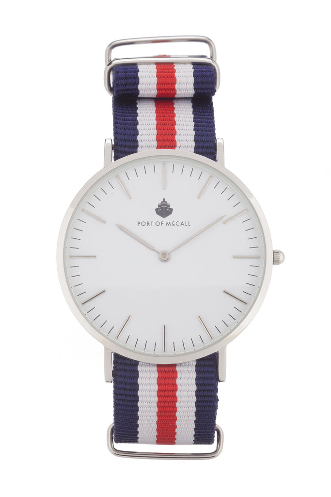 Red White Blue Nato Strap