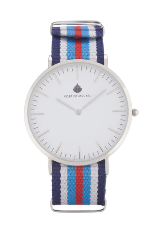 Teal Red White Blue Nato Strap
