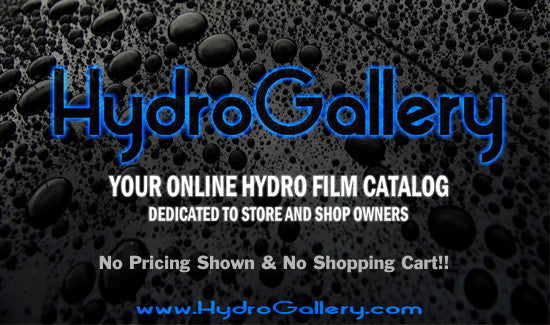 HydroGallery, for shop owners and dip shops to display available film designs.
