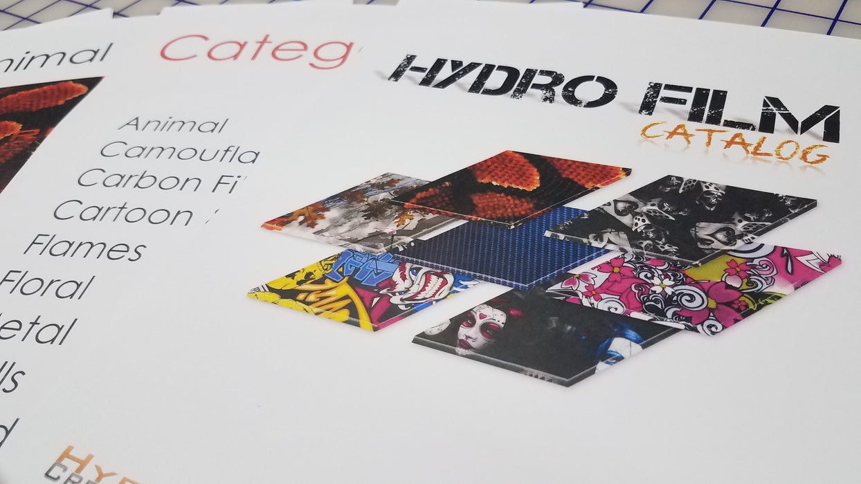 Hydro Film Book - Hydro film for hydro dipping and water transfer printing - HydroCreations