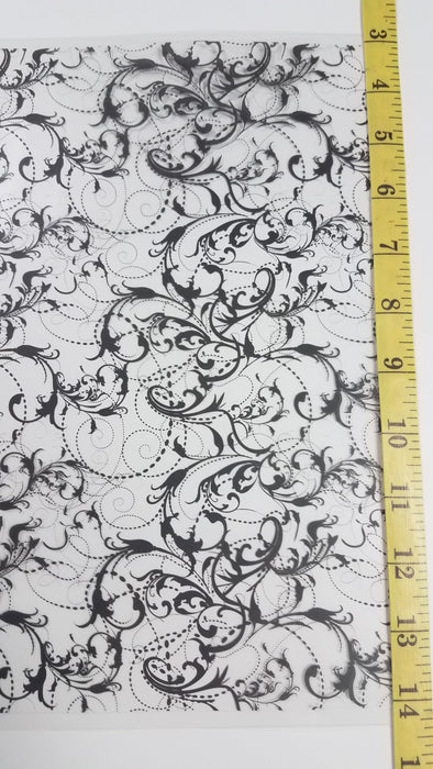 Black Paisley - Hydro film for hydro dipping and water transfer printing - HydroCreations