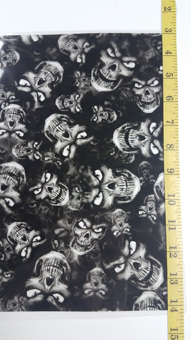 Evil Skulls - Hydro film for hydro dipping and water transfer printing - HydroCreations