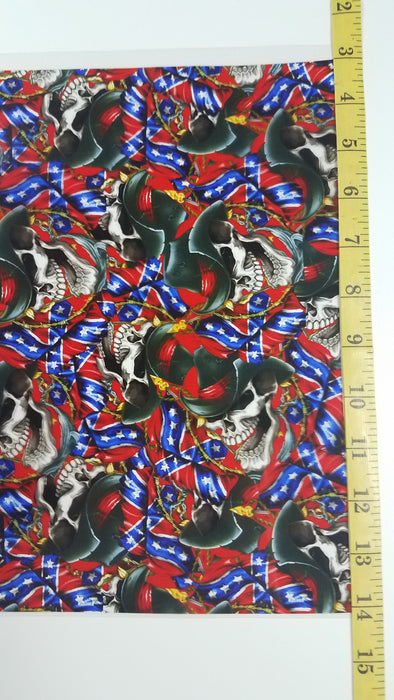 Cowboy Flag Skulls - Hydro film for hydro dipping and water transfer printing - HydroCreations