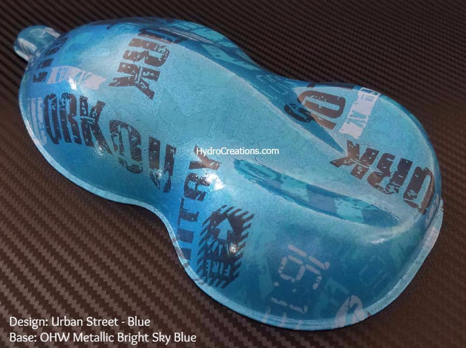 Urban Street - Blue - Hydro film for hydro dipping and water transfer printing - HydroCreations