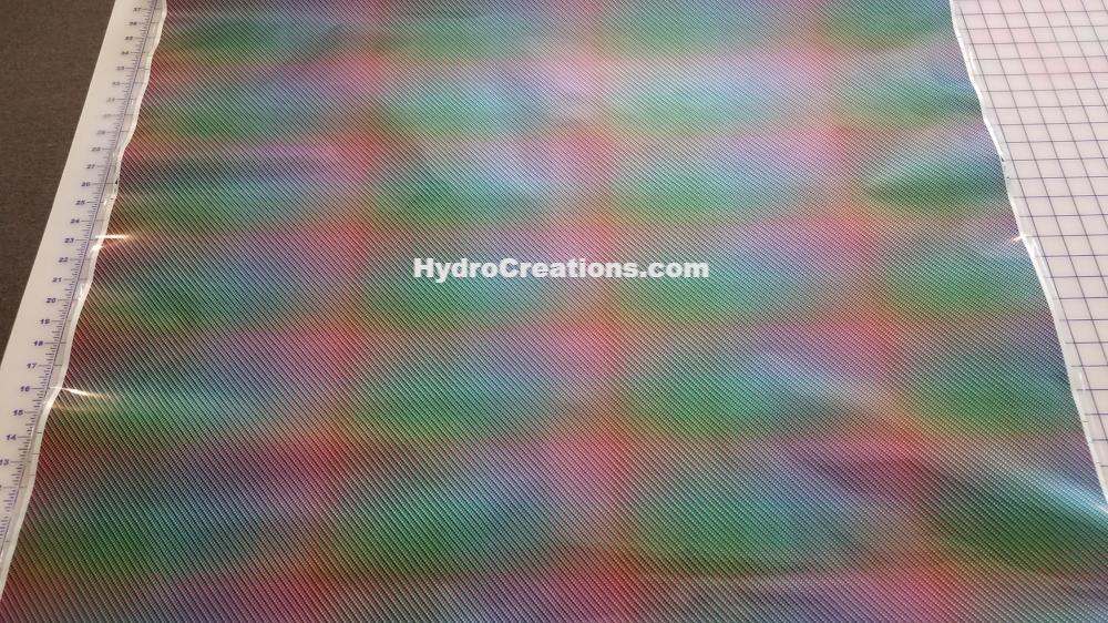 Color Shift Carbon - Hydro film for hydro dipping and water transfer printing - HydroCreations