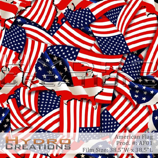 American Flag - Hydro film for hydro dipping and water transfer printing - HydroCreations