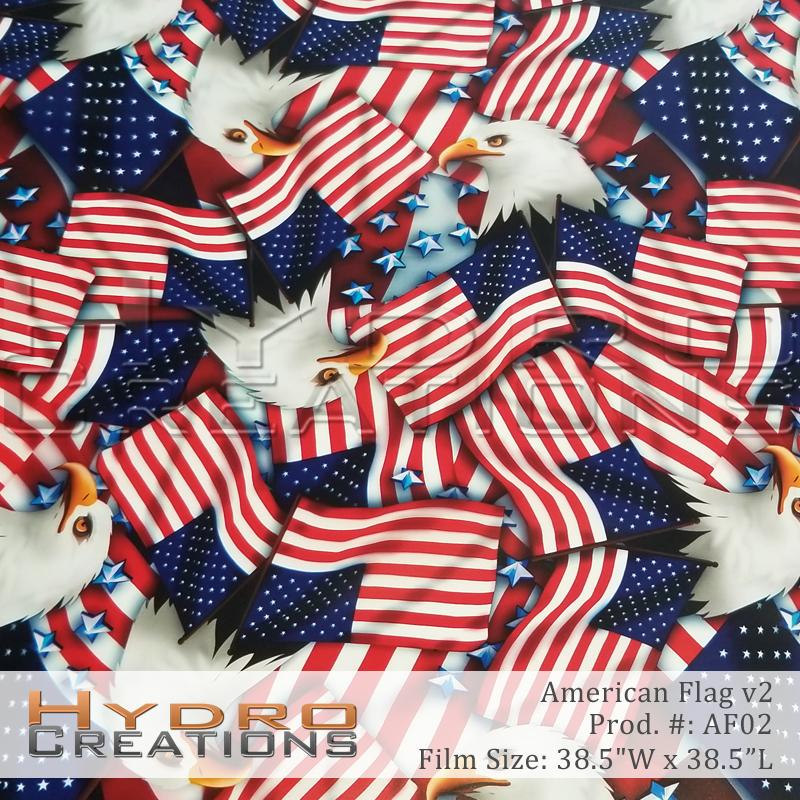American Flag v2 - Hydro film for hydro dipping and water transfer printing - HydroCreations