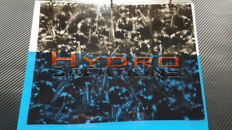 Assassination Skulls - Hydro film for hydro dipping and water transfer printing - HydroCreations