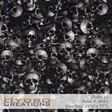 Skulls v2 design hydro film - product image by HydroCreations.
