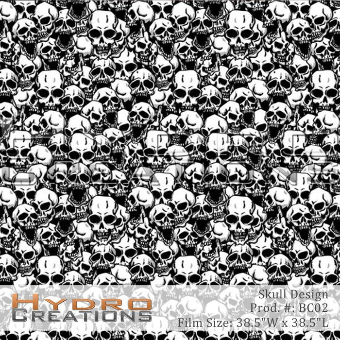 Skull Design - Hydro film for hydro dipping and water transfer printing - HydroCreations
