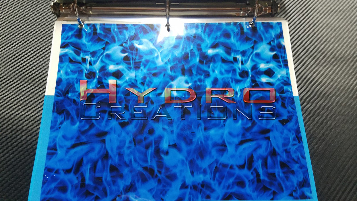 Blue Flames - Hydro film for hydro dipping and water transfer printing - HydroCreations