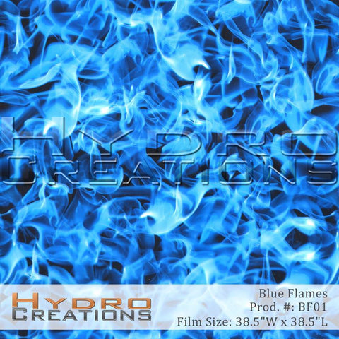 Blue Flames design hydro film - product image.