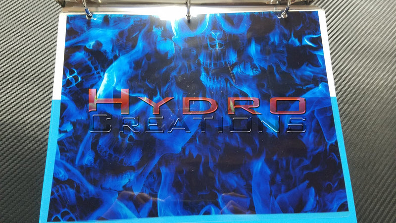 Blue Flame Skulls - Hydro film for hydro dipping and water transfer printing - HydroCreations