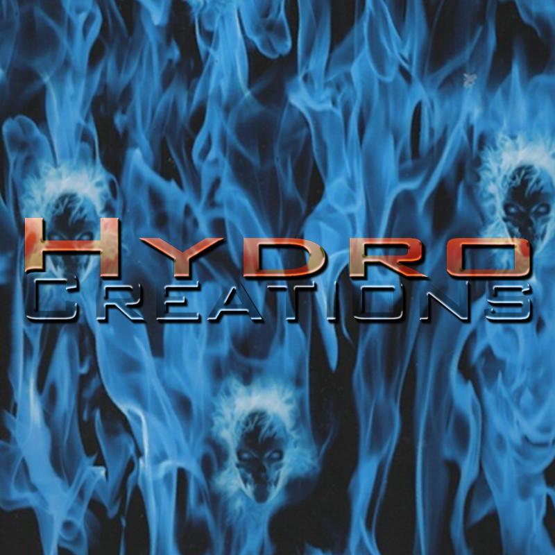 Blue Flame Faces - Hydro film for hydro dipping and water transfer printing - HydroCreations