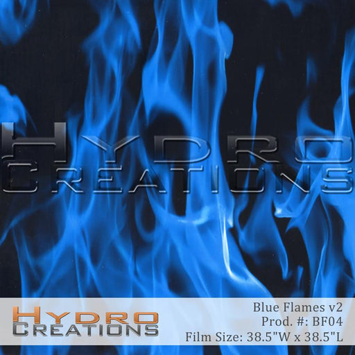 Blue Flames v2 - Hydro film for hydro dipping and water transfer printing - HydroCreations