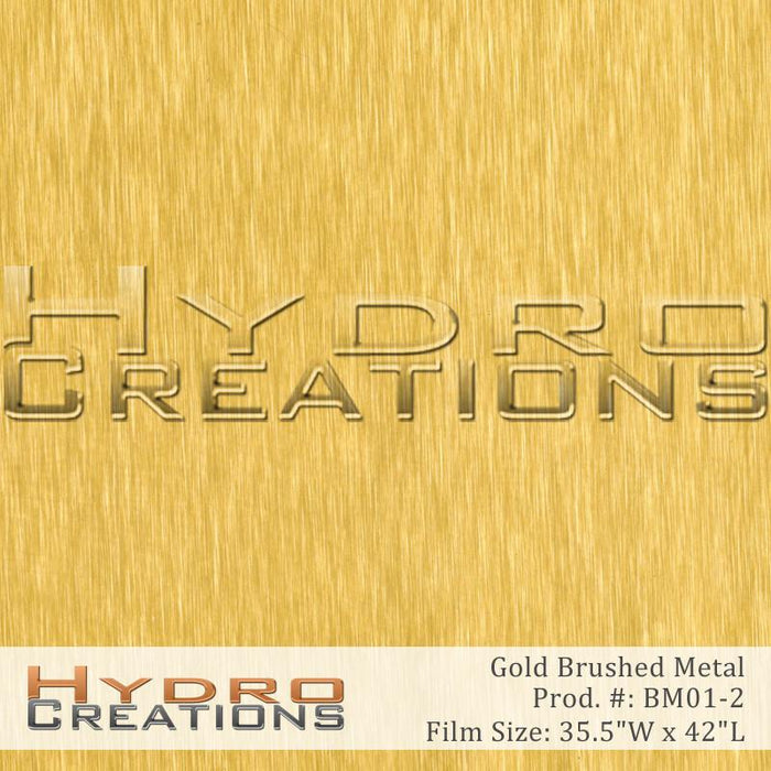 Gold Brushed Metal - Hydro film for hydro dipping and water transfer printing - HydroCreations