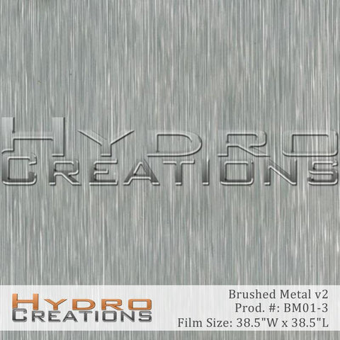 Brushed Aluminum Metal hydro film for hydro dipping.