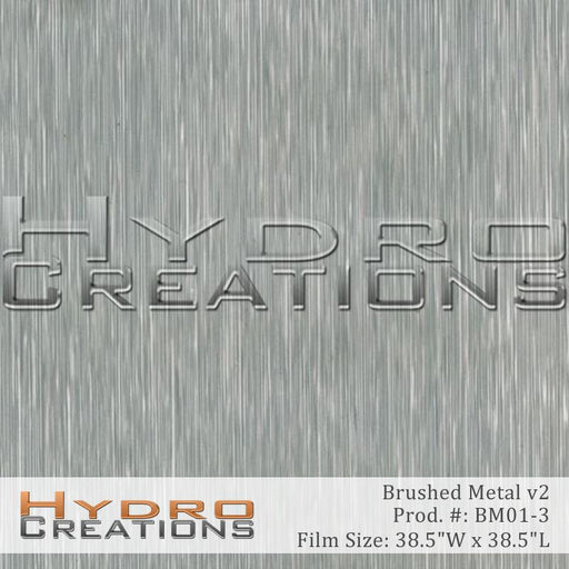 Brushed Metal v2 - Hydro film for hydro dipping and water transfer printing - HydroCreations