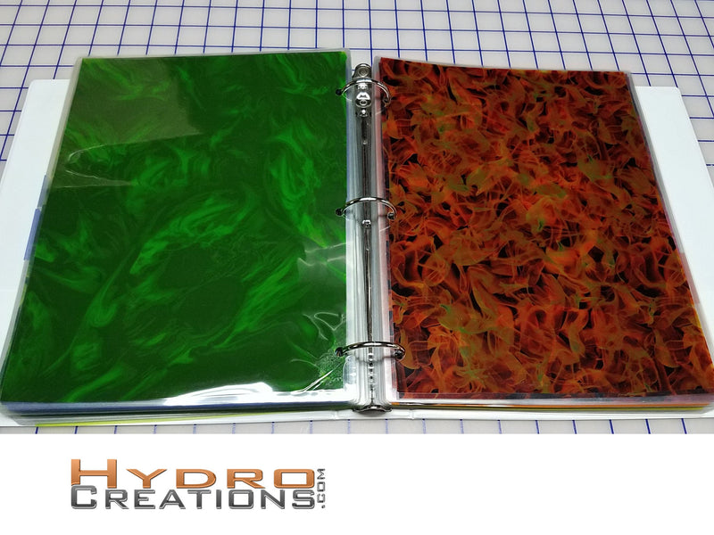 "8.5"" x 11"" - Film Book - Hydro film for hydro dipping and water transfer printing - HydroCreations"