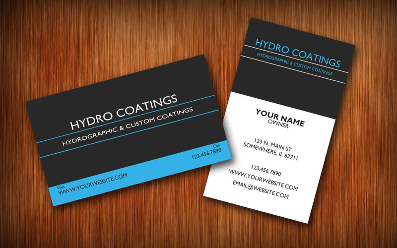Free Business Card Template - Hydro film for hydro dipping and water transfer printing - HydroCreations