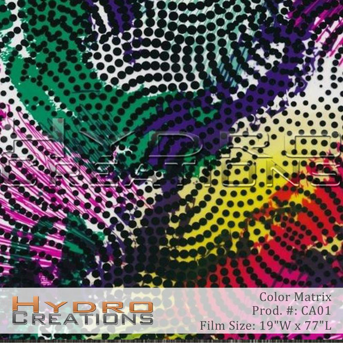 Color Matrix - Hydro film for hydro dipping and water transfer printing - HydroCreations