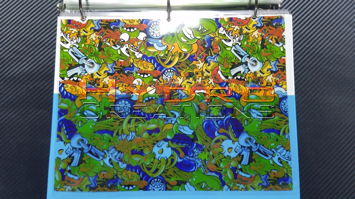 Cartoon Madness - Hydro film for hydro dipping and water transfer printing - HydroCreations