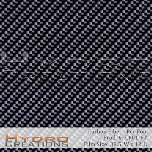 Carbon Fiber - Per Foot - Hydro film for hydro dipping and water transfer printing - HydroCreations