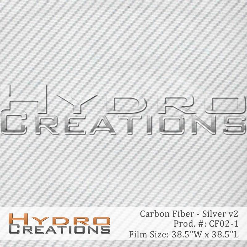 Silver Carbon Fiber v2 - Hydro film for hydro dipping and water transfer printing - HydroCreations