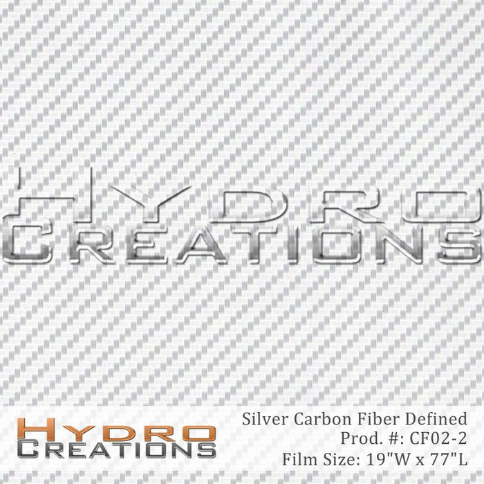 Silver Carbon Fiber Defined - Hydro film for hydro dipping and water transfer printing - HydroCreations