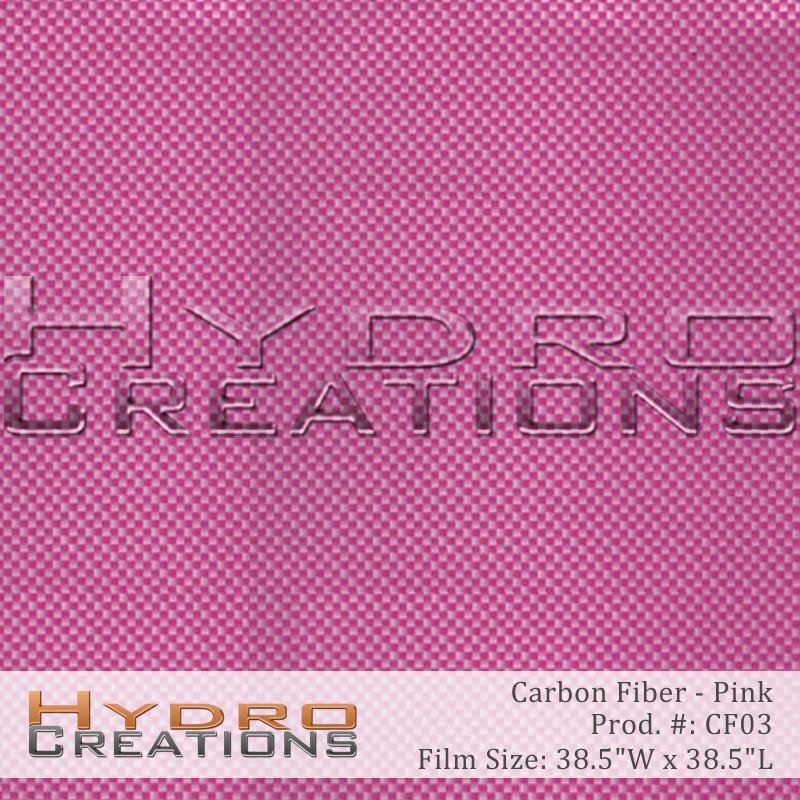 Pink Carbon Fiber - Hydro film for hydro dipping and water transfer printing - HydroCreations