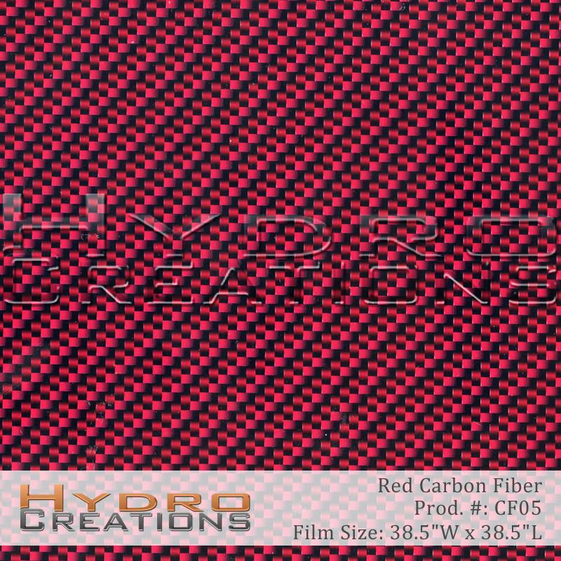 Red Carbon Fiber - Hydro film for hydro dipping and water transfer printing - HydroCreations