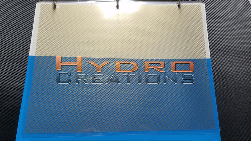 Gold Carbon Fiber - Hydro film for hydro dipping and water transfer printing - HydroCreations