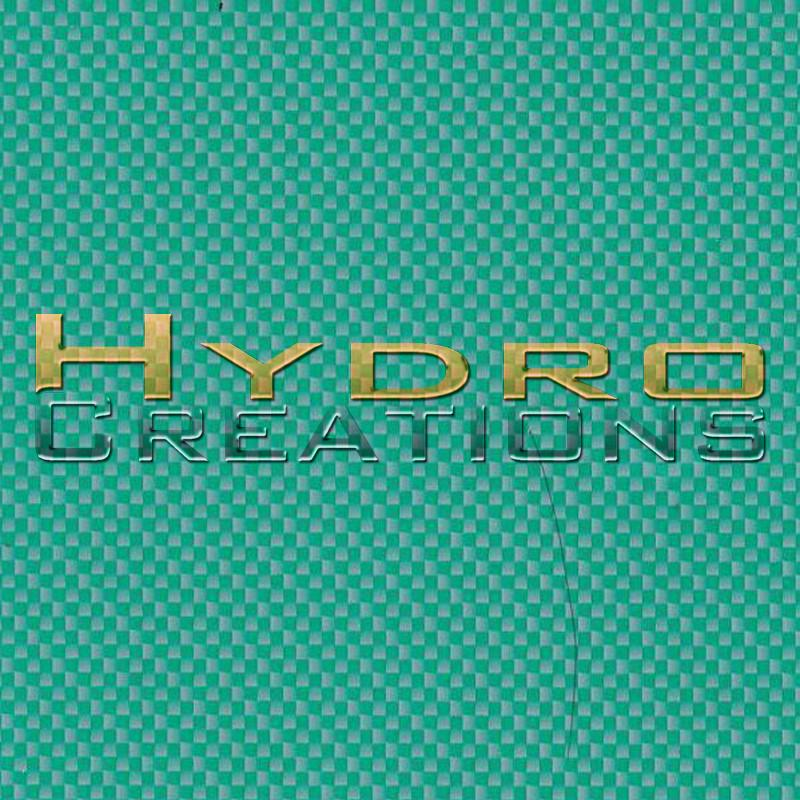 Green Carbon Fiber - Hydro film for hydro dipping and water transfer printing - HydroCreations