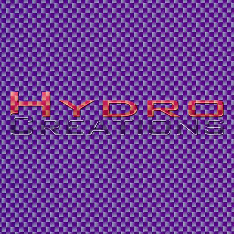 Purple Carbon Fiber - Hydro film for hydro dipping and water transfer printing - HydroCreations