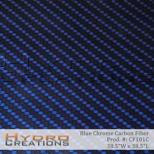 Blue Chrome Carbon Fiber - Hydro film for hydro dipping and water transfer printing - HydroCreations