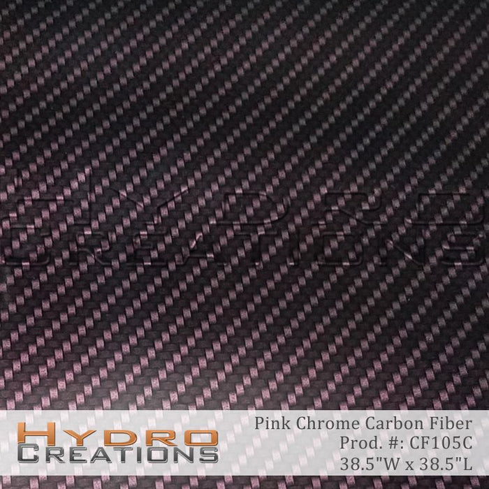 Pink Chrome Carbon Fiber - Hydro film for hydro dipping and water transfer printing - HydroCreations