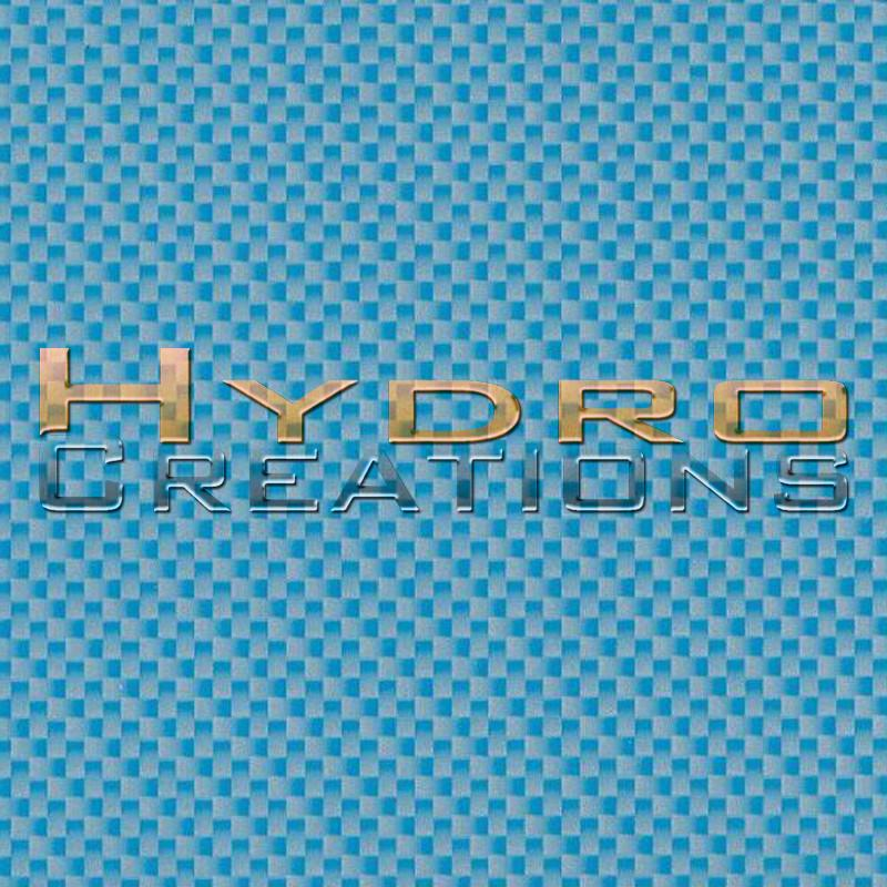 Light Blue Carbon Fiber - Hydro film for hydro dipping and water transfer printing - HydroCreations