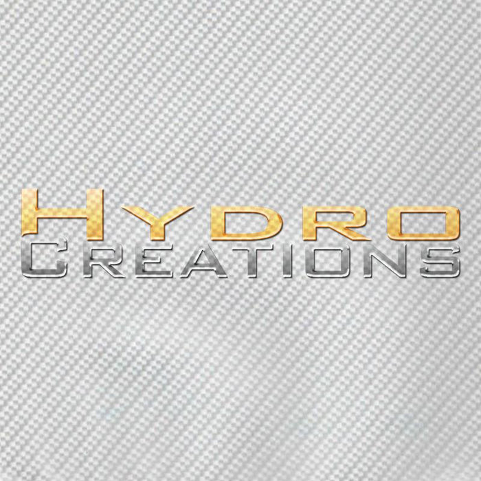 White Carbon Fiber - Hydro film for hydro dipping and water transfer printing - HydroCreations