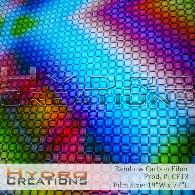 Rainbow Weave Fiber - Hydro film for hydro dipping and water transfer printing - HydroCreations