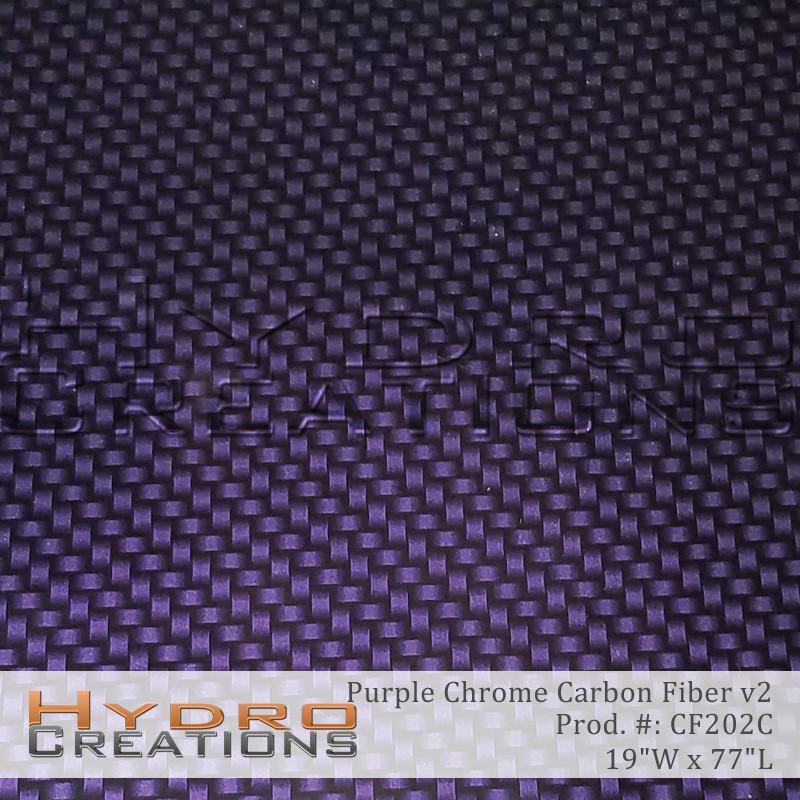 Purple Chrome Carbon Fiber v2 - Hydro film for hydro dipping and water transfer printing - HydroCreations