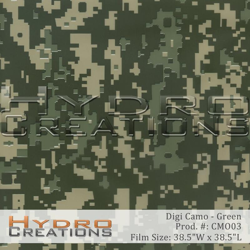 Digi Camo - Green - Hydro film for hydro dipping and water transfer printing - HydroCreations