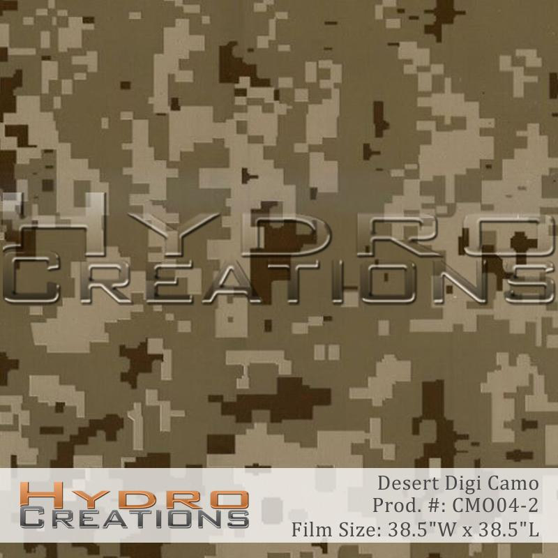 Desert Digi Camo - Hydro film for hydro dipping and water transfer printing - HydroCreations