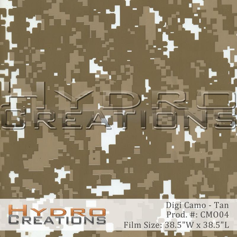 Digi Camo - Tan - Hydro film for hydro dipping and water transfer printing - HydroCreations