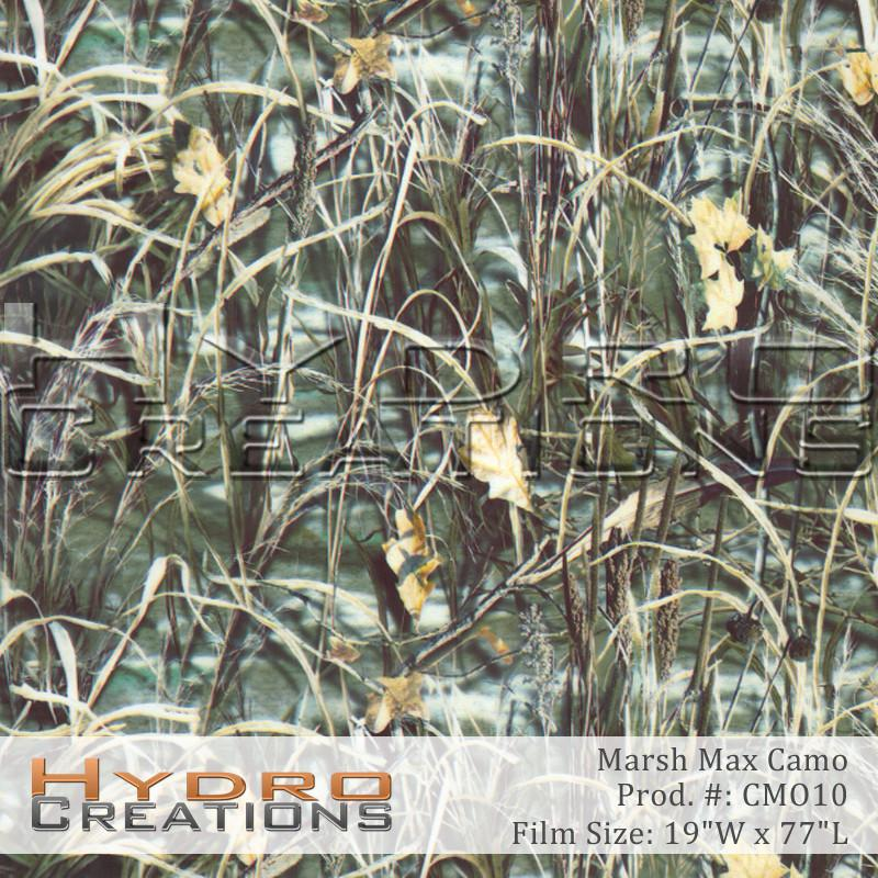 Marsh Max - Hydro film for hydro dipping and water transfer printing - HydroCreations