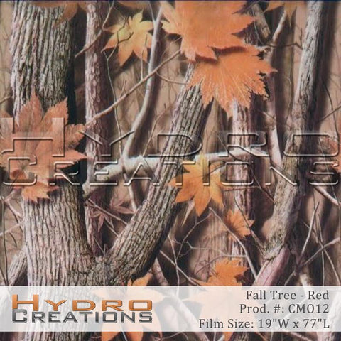 Fall Tree Red design hydro film - product image.
