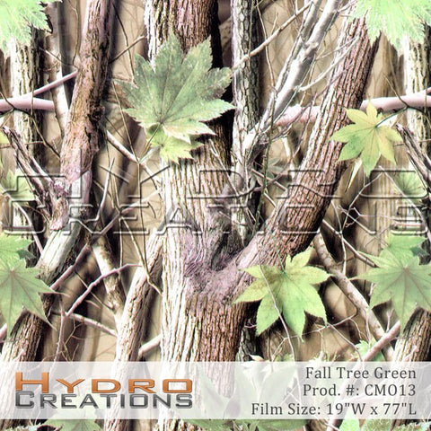 Fall Tree Green design hydro film - product image by HydroCreations.