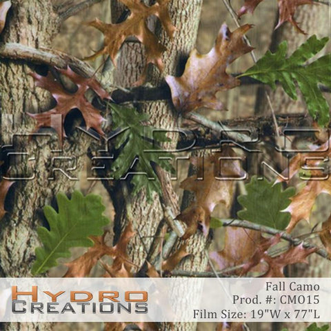 Fall Camo design hydro film - product image.