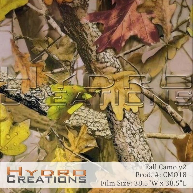 Fall Camo v2 - Hydro film for hydro dipping and water transfer printing - HydroCreations