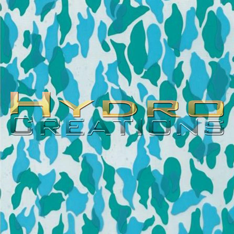 Military Camo - Blue - Hydro film for hydro dipping and water transfer printing - HydroCreations