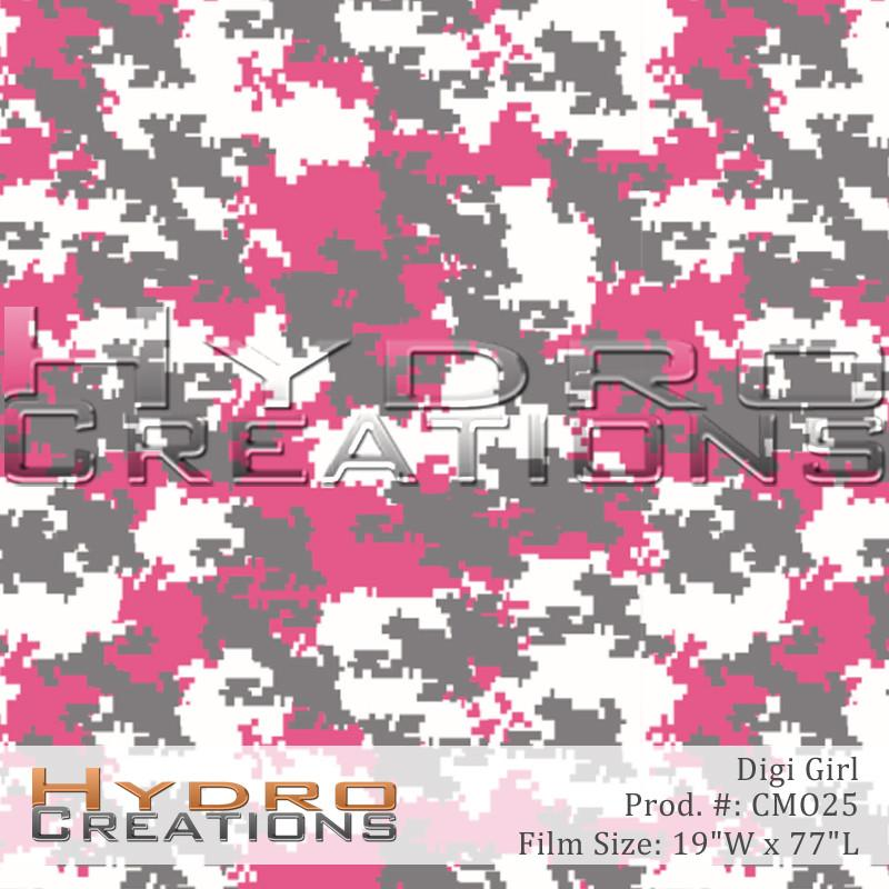 Digi Girl - Hydro film for hydro dipping and water transfer printing - HydroCreations